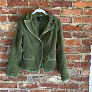 H&M Green Corduroy Velveteen Blazer